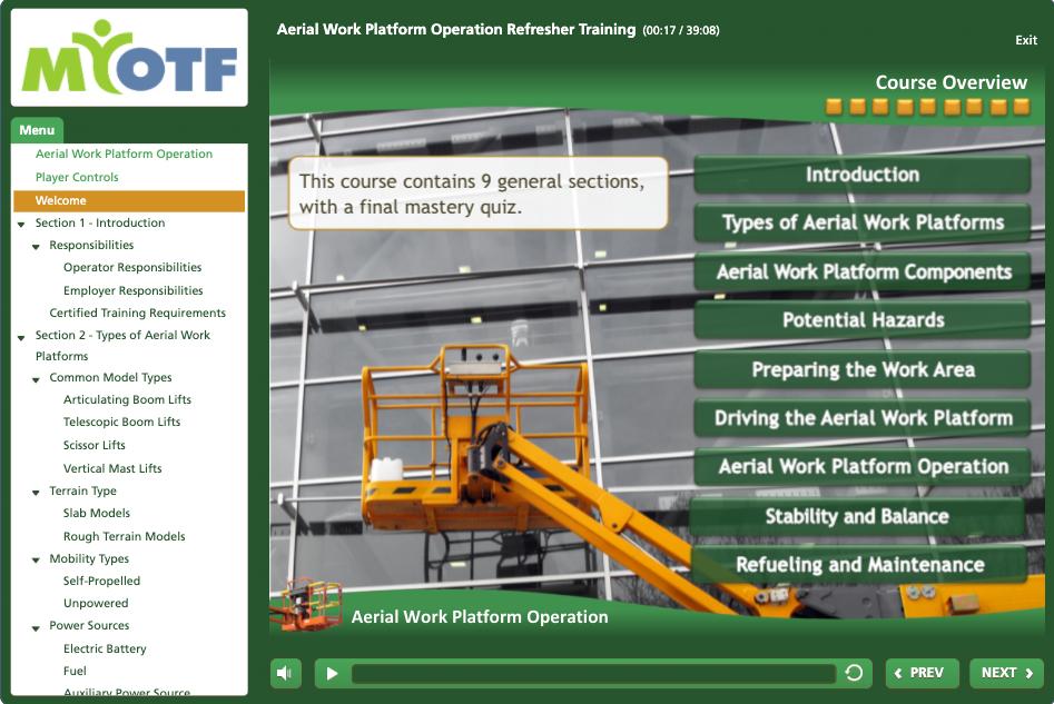 Aerial Work Platform Operation