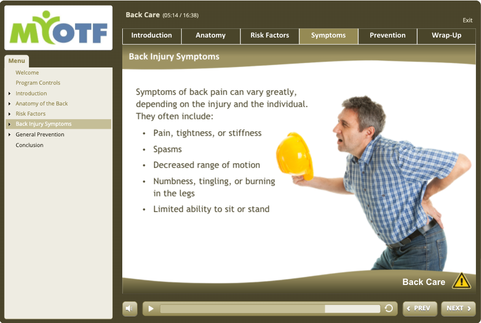 Back Care and Safe Lifting