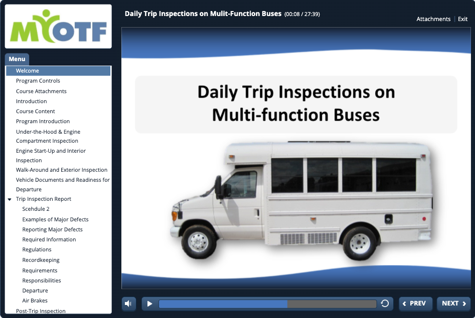 Daily Trip Inspections for Multi-Function Buses