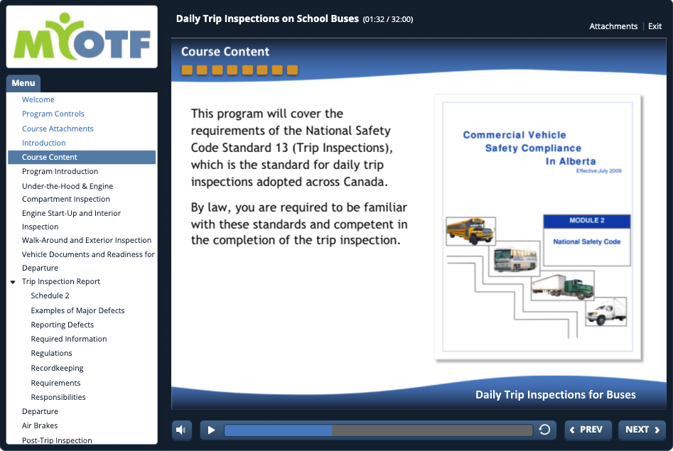 Daily Trip Inspections for School Buses