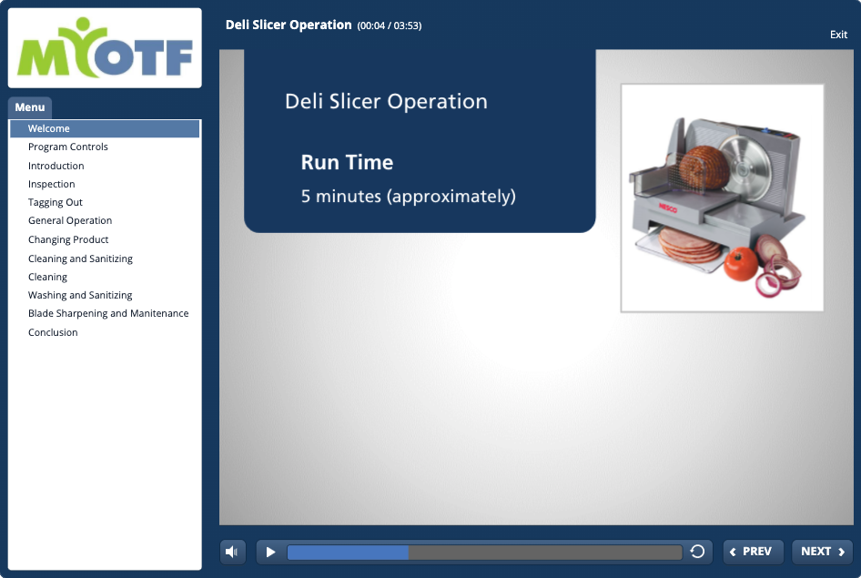 Deli Slicer Operation