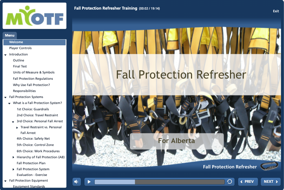 Fall Protection Refresher (Alberta)
