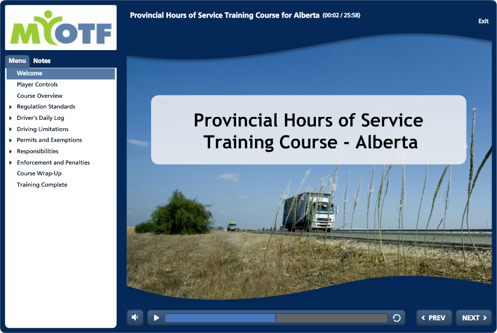 Hours of Service Regulations for Alberta