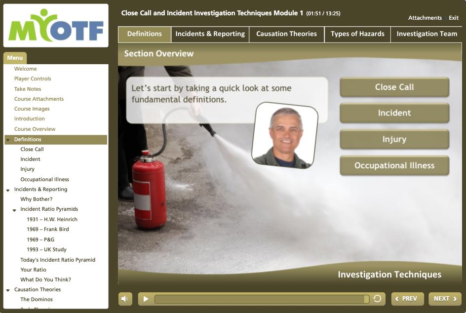 Close Call & Incident Investigation