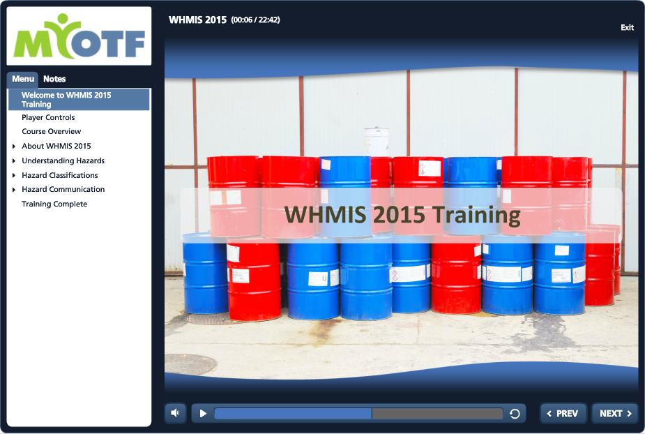 WHMIS 2015 (3 year expiry)