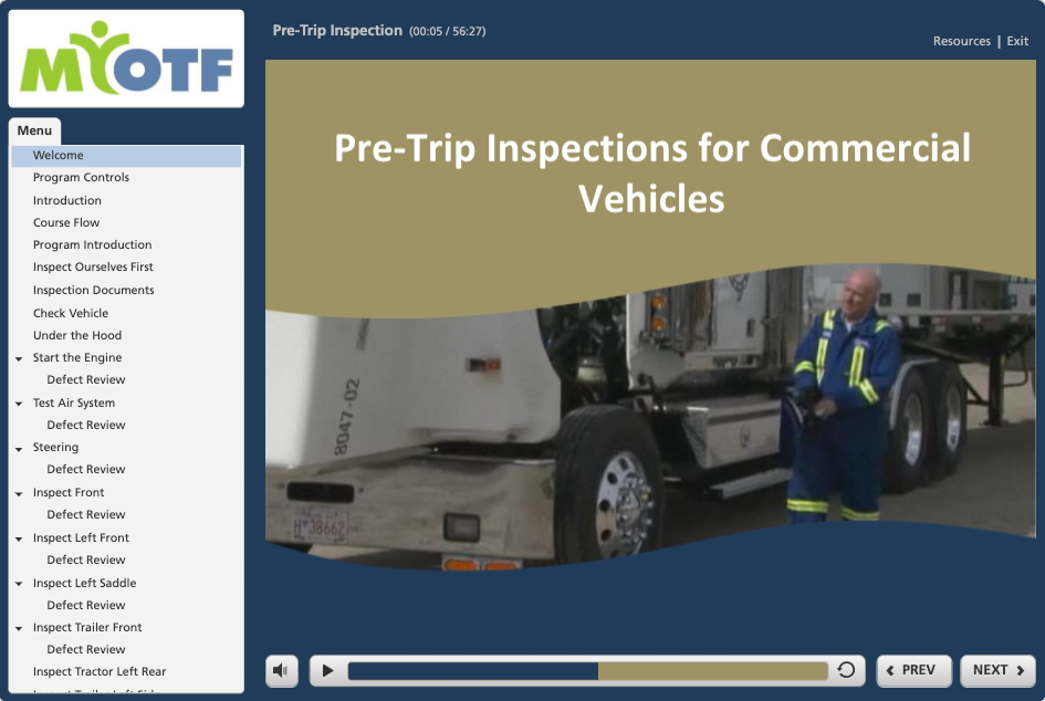 Commercial Vehicle Pre-Trip Inspection