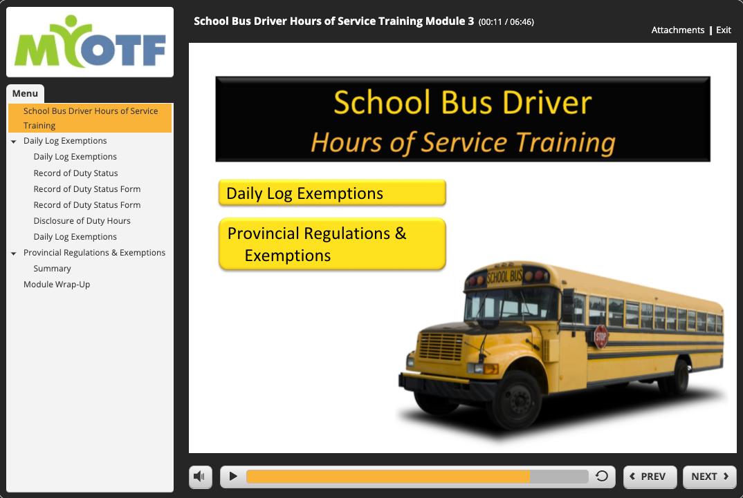 School Bus Hours of Service