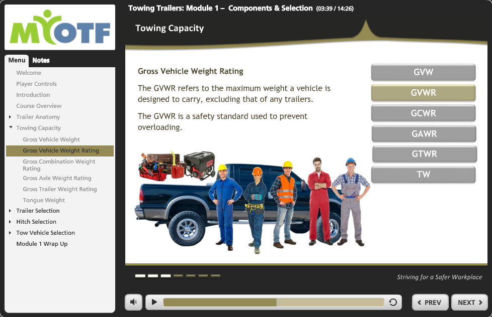 Towing Trailers: Module 1 – Components & Selection