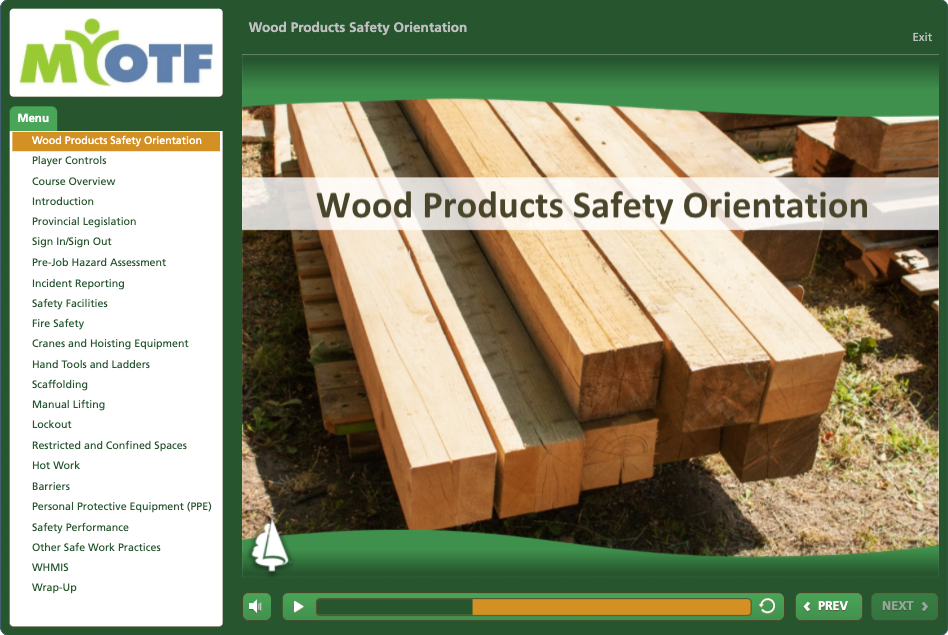 Wood Products Safety Orientation
