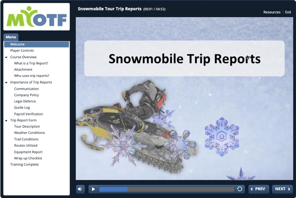 Snowmobile Tour Trip Reports